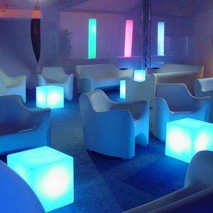 Slide - cubo - cube lumineux extérieur blanc h20cm   lampe - Garden Lamp