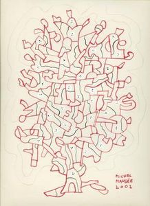Michel Maugee -  - Ink Drawing