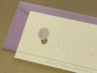 ICI LA TERRE - faire part de naissance garçon parme osaka - Birth Announcement Card