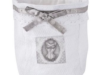 Mathilde M - petit panier jacquard - collection esprit lingerie - Bathroom Basket