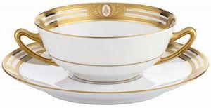 ROBERT HAVILAND PARLON - les abeilles - Cream Soup Cup And Saucer