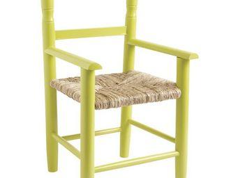 Aubry-Gaspard - fauteuil enfant en bois de hêtre anis - Armchair