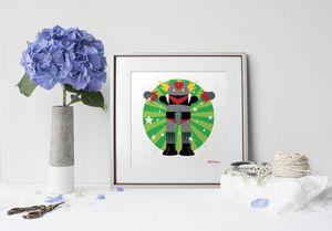 la Magie dans l'Image - print art héros goldorak - Decorative Painting