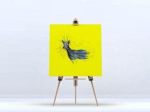 la Magie dans l'Image - toile chevreuil jaune - Digital Wall Coverings