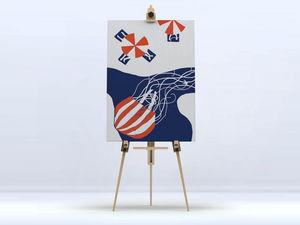 la Magie dans l'Image - toile la méduse - Digital Wall Coverings