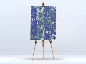 la Magie dans l'Image - toile végétal bleu vert - Digital Wall Coverings