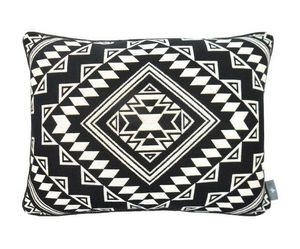 Art De Lys - kilim zoom fond noir - Rectangular Cushion