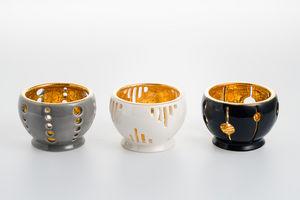 Emaux De Longwy - gouttes bulles colonnes - Candle Jar