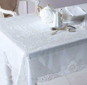 Cologne & Cotton - embroidered venise lace - Rectangular Tablecloth