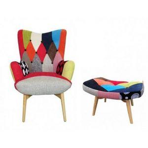 Mathi Design - fauteuil patchwork scandinave java - Armchair