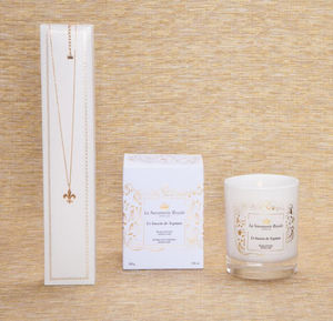 LA SAVONNERIE ROYALE - bougie le bassin de neptune avec collier - Scented Candle