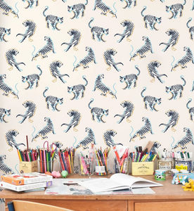ISIDORE LEROY - mini tigres - Children's Wallpaper
