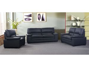 WHITE LABEL - canapé mimas - 3 Seater Sofa