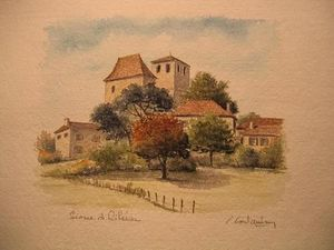MOULIN DE LARROQUE -  - Watercolour Paper