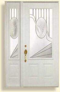 Aluminium Pierre -   - Glass Entrance Door