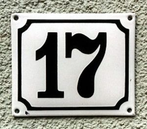 Replicata - emaille-hausnummer - House Number