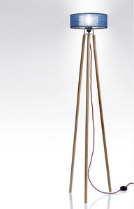 Anne-Marie Zahar - nonne bleue petit format - Trivet Floor Lamp