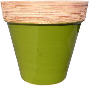 AMBIANCES & MATIERES DIFFUSION - pot emaille col brosse - Garden Pot