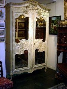 Grand Papa Antiquites - armoire cauchoise - Wardrobe Cabinet