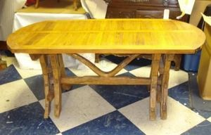 Jacque's Antiques - french rural farm table.  - Oval Dining Table