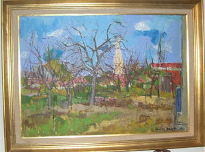 ANTIQUITES THUILLIER - charles badoise - Oil On Canvas And Oil On Panel