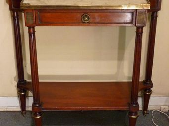 ANTIQUE GERMAIN - console louis xvi en acajou massif - Drawer Console
