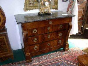 Antiquités FAUROUX - commode à crosses restauration - Chest Of Drawers