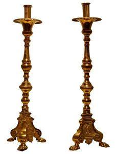 Antiquités SANT VICENS - candélabres - Candelabra
