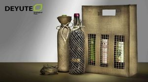 DEYUTE - sacs jute divers - Wine Bottle Tote
