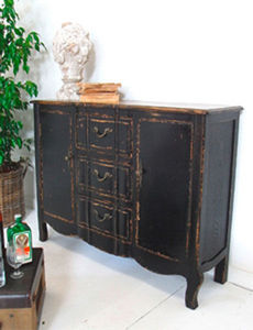 BLEU PROVENCE - vintage black - Provincal Bread Cabinet