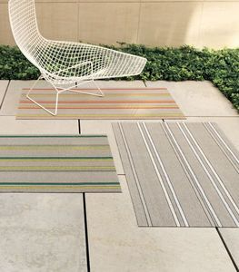 CHILEWICH - shag in orange, green and grey  - Outdoor Carpet