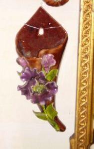 Art & Antiques - bouquetière aux fleurs - Wall Mounted Vase
