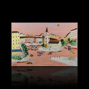 Expertissim - jean wallis. paris, saint germain des prés - Contemporary Painting
