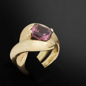 Expertissim - bague bandeaux or et tourmaline - Ring