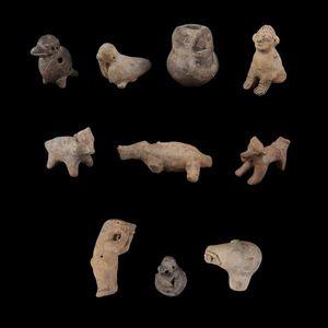 Expertissim - lot de dix animaux en terre cuite. colombie, tumac - Pre Columbian Object