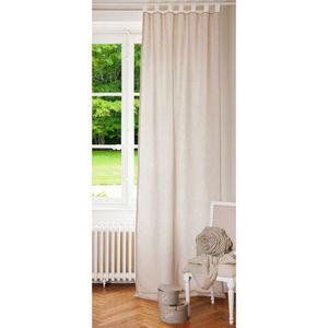 MAISONS DU MONDE - rideau double ecru lin - Tab Top Curtain
