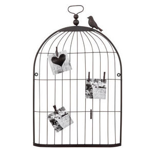 Maisons du monde - pêle mêle cage oiseau rusty grand modèle - Picture Holder