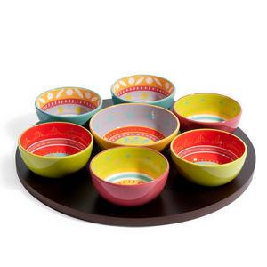 Maisons du monde - apéritif 7 coupelles et plateau cuzco - Small Dish
