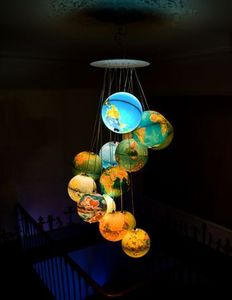 ICI ET LA - terre à l'endroit tete à l'envers - Children's Hanging Decoration