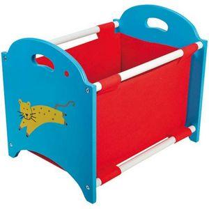 WDK Groupe Partner - casier de rangement empilable rouge et bleu 40x30x - Doll Toy