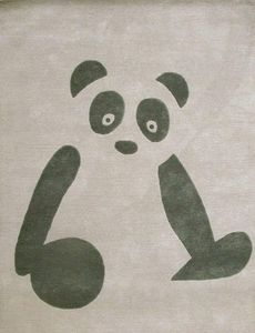 ART FOR KIDS - panda - Children's' Rug