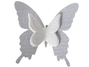 Mathilde M - papillon biscuit à pince roses - Themed Decoration