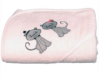 SIRETEX - SENSEI - cape de bain brodée cat dinner - Hooded Towel