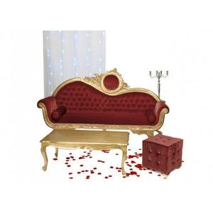 DECO PRIVE - canape baroque ensemble victoria 3 places dore et - Living Room