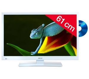 AKAI France - ate-24d614w - blanc - combo led/dvd - Lcd Television