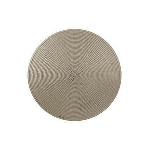 WHITE LABEL - set de table rond en fibre tissée - Placemat