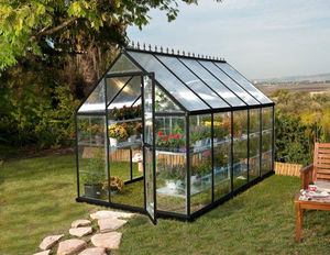 Chalet & Jardin - serre victorienne polycarbonate et alu 5,73m² - Greenhouse