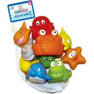 WDK Groupe Partner - filet 10 aspergeurs de bain animaux marins - Early Years Toy