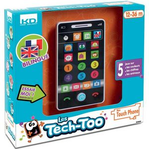 WDK Groupe Partner - smartphone éducatif bilingue 7.5x2.5x14cm - Early Years Toy