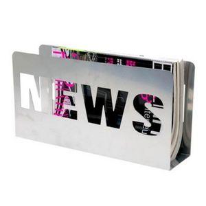 Present Time - porte-revues news - couleur - argenté - Magazine Rack